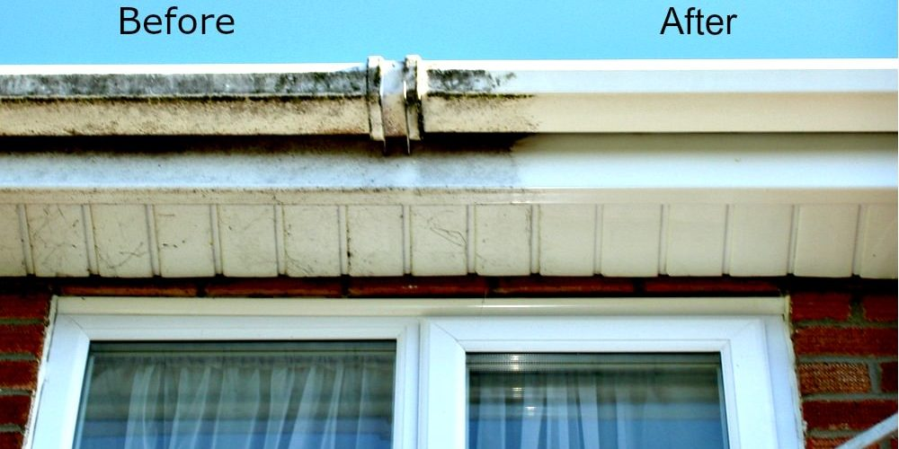 Clarity Reach & Wash Fascia and Soffit Cleaning Services Before and After